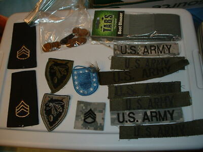 Junk Drawer Lot; Military Items,