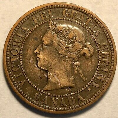 CANADA - Queen Victoria - Large Cent - 1881H - Heaton Mint - Extra Fine Details