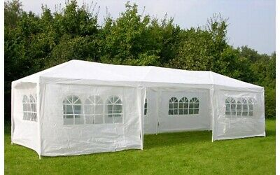 3 x 9 Gazebo Outdoor Waterproof Party Wedding Tent Marquee Canopy Shelter Awning