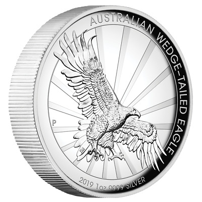 Australien - 1 Dollar 2019 - Wedge-Tailed Eagle - 1 Oz Silber PP High Relief