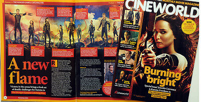 The Hunger Games Catching Fire Cinema Film Movie Magazine Jennifer Lawrence