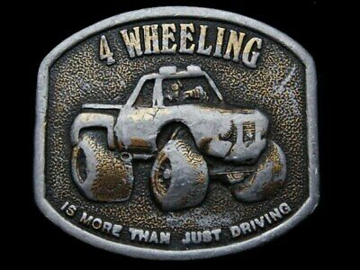 Kd27117 Cool Vintage 1976 ***4-Wheeling*** Is More Than Just Driving Belt Buckle
