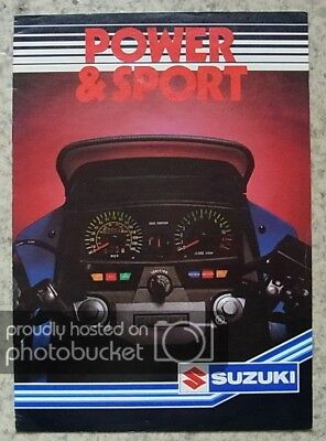 SUZUKI POWER & SPORT Motorcycles Sales Brochure 1984 XN85 TURBO GS850G GSX1100EF