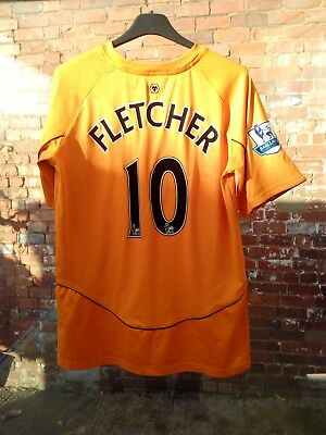 Wolverhampton Wanderers Fc Fletcher 10 2011-12 Home Football Shirt Xlb 13-14 Yrs