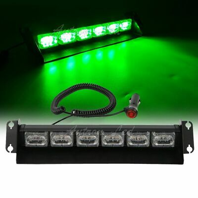 "14"" 18W LED Green Traffic Advisor Warning Emergency Dash Flash Strobe Light Bar"