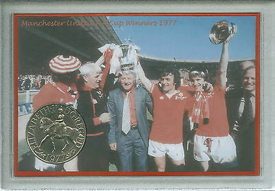 Manchester United Man Utd Vintage F.A Cup Final Winners Retro Coin Gift Set 1977