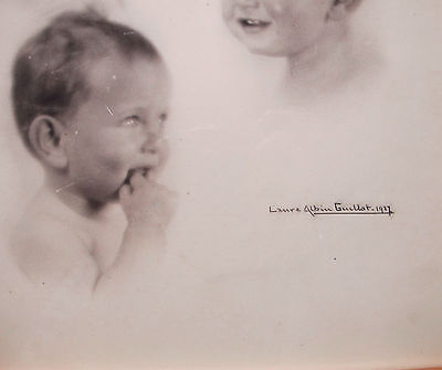 Laure Albin Guillot Photographie Originale Bambin 27 Signee Crayon Signed Krull