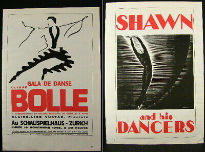 Dance Poster Print Two-Sided, Ulysse Bolle 1945, Shawn and his Dancers 1931