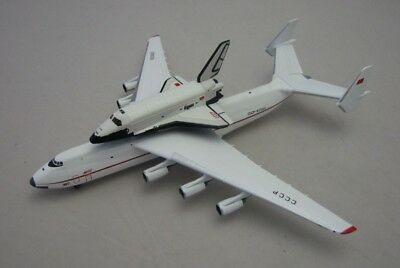 Herpa Wings 1/500 Russia CCCP Antonov 225 Mriya and Space Shuttle Buran Orbiter