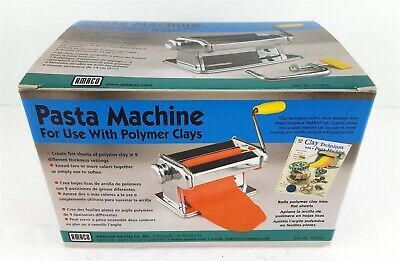 AMACO Craft Pasta Machine for Polymer Clay Soft Metal Sheets 9 Settings 12381 S