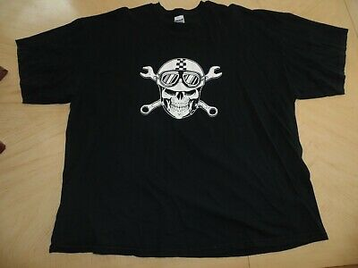 80ccaee20 Used and Faded Speedcult Detroit Skull and Cross Wrenches Black T-Shirt 3XL