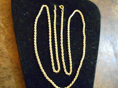bling gold plated FASHION JEWELRY solid 30 inch long rope chain necklace hip hop