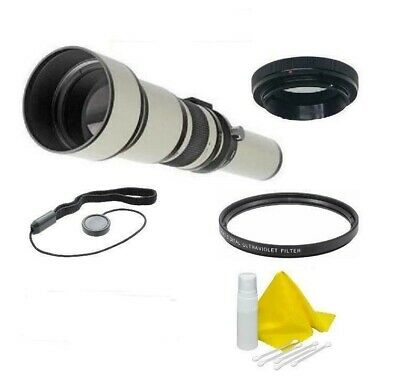 Bower 650-1300mm Telephoto Zoom Lens For Canon EOS T7i T7 T6i T6s T5 80D 70D 60D