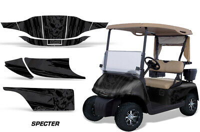 Golf Cart Graphics Kit Decal Sticker Wrap For 2 Seat EZ-Go TXT 94-13 SPECTER BLK