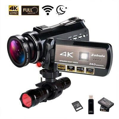 4K Wifi Full Spectrum Camcorders, Ultra HD Infrared Night Vision Paranormal Inve