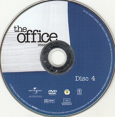 The Office Fourth Season 4 Disc 4 Replacement Dvd Disc Only