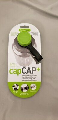 Human Gear CapCAP+ Narrow AND Wide Mouth Bottle Cap Nalgene CamelBak Green/Gray