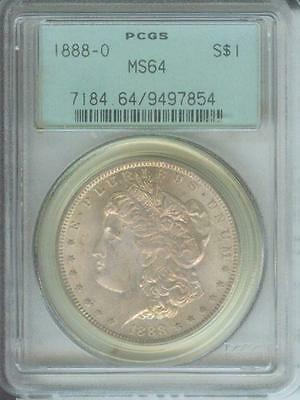 1888-O MORGAN SILVER DOLLAR S$1 PCGS MS64 Obverse TONING Old GREEN HOLDER OGH
