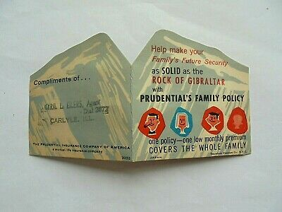 Vintage Cyril Eilers Carlyle IL Prudential Insurance Advertising Needle Book