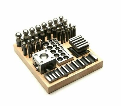 41 PC Doming Block Jeweler Dapping Punch Jewelry Metal Forming Puncher Set