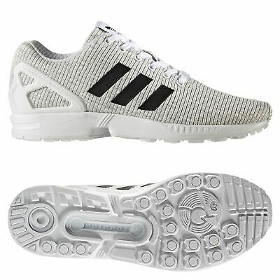 85fae491dbe9 adidas ORIGINALS MEN S ZX FLUX TRAINERS SHOES SNEAKERS WHITE GYM COMFY NEW  BNWT