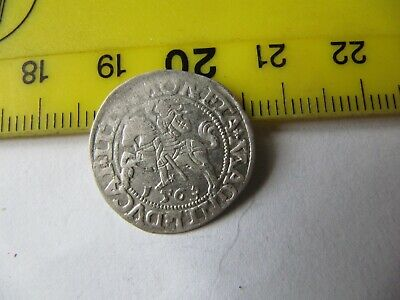 12 Grosh 1563, Old Silver Lithuanian Coin