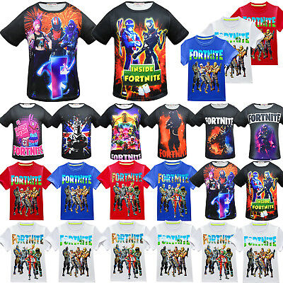 Kid Boys Fortnite Battle Royale T-Shirt Boys PS4 Short Sleeve Xbox Summer Tops