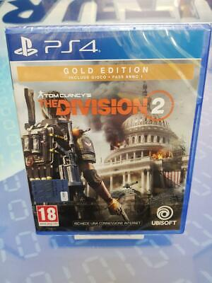 Tom Clancy's The Division 2 Gold Edition - GIOCO Playstation 4 PS4 NUOVO SIGILLA