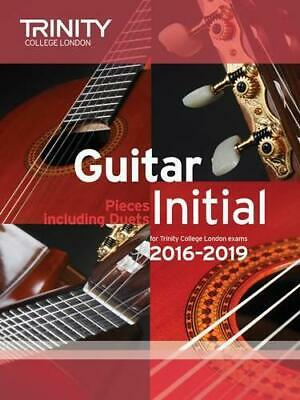 Guitar Exam Pieces Initial 2016-2019 by Trinity College London, NEW Book, FREE &
