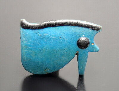 Large Egyptian Faience Eye Of Horus Amulet (M341)