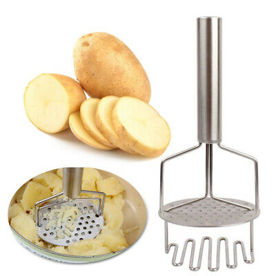 Stainless Steel Double Layer Potato Masher Crusher Ricer Mahed Pumpkins Egg