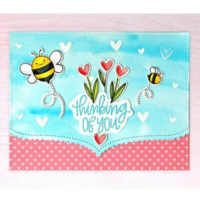 Cute Bee Clear Stamps Scrapbooking Crafts Paper Cards Decor Transparent Stempels