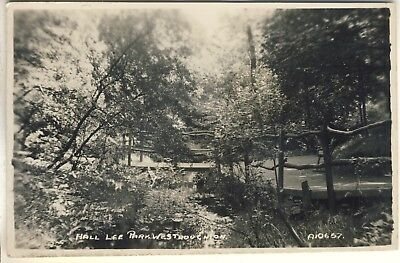 An Early Real Photo Post Card of Hall Lee Park, Westhoughton. South East Lancs'