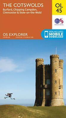 OS Explorer OL45 The Cotswolds (OS Explorer Map) by Ordnance Survey, NEW Book, F