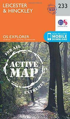 OS Explorer Map Active (233) Leicester and Hinckley (OS Explorer Active Map) by