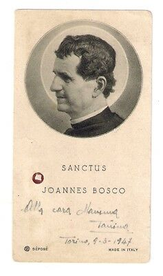 Holy card with relic (ex indumentis) St. JOHN BOSCO 3