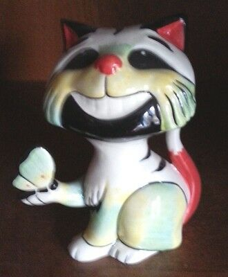 Lorna Bailey Cat with a butterfly FREE P&P #