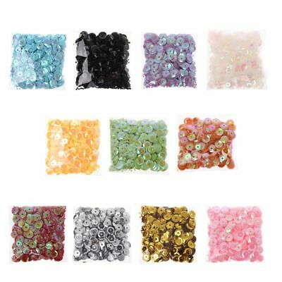 400pcs 6mm Loose Round Sequins Paillettes PVC Crafts For Clothes DIY Sewing Gift