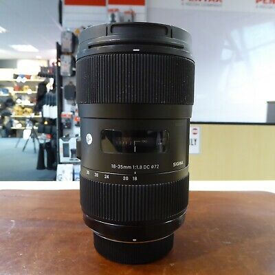 Used Sigma DC 18-35mm f1.8 'Art ' lens in Nikon fit - 1 YEAR GTEE