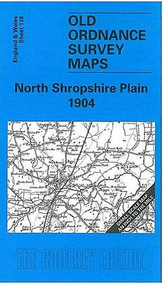 Old Ordnance Survey Map The North Shropshire Plain 1904