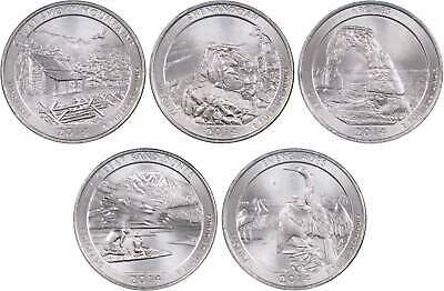 2014 P America the Beautiful Quarter 5-Coin Set Uncirculated Mint State