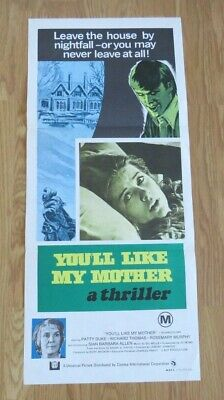 YOU'LL LIKE MY MOTHER ORIGINAL 1972 CINEMA DAYBILL FILM POSTER Patty Duke HORROR