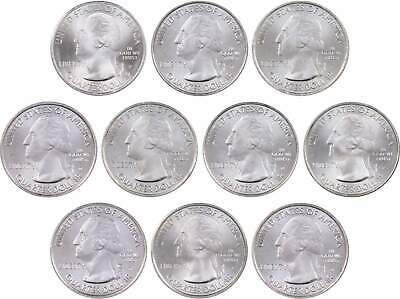 2013 P & D America the Beautiful Quarter 10-Coin Set Uncirculated Mint State