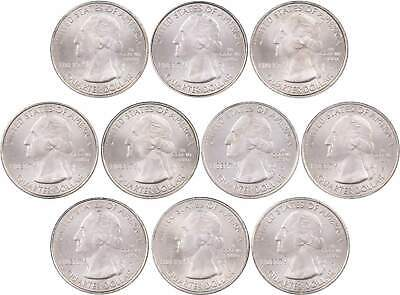 2014 P & D America the Beautiful Quarter 10-Coin Set Uncirculated Mint State