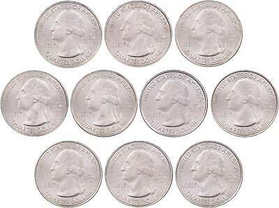 2017 P & D America the Beautiful Quarter 10-Coin Set Uncirculated Mint State