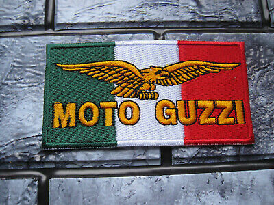 Aufnäher Patch Moto-Guzzi Racing Motorradcross Motorradsport Biker Race Patches