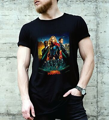 Captain Marvel 2019 Movie T Shirt Ship From The UK, US Size S-2XL Men T-Shirt