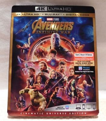 AVENGERS INFINITY WAR 4k ultra Hd blu-ray digital code NEW SEALED AUTHENTIC