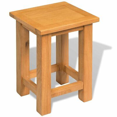 Small Solid Wood Side Table Oak Slim Occasional Coffee Table Lamp Bedside Narrow