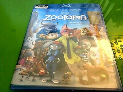 Disney Zootopia Blu-ray + DVD + Digital HD Family Kids Movie Film BRAND NEW